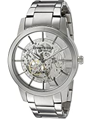 Kenneth Cole New York Mens  Japanese Automatic Stainless Steel Dress Watch, Color:Silver-Toned (Model: 10031273)