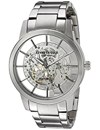 Kenneth Cole New York Men's ' Japanese Automatic Stainless Steel Dress Watch, Color:Silver-Toned (Model: 10031273)