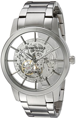 Kenneth Cole New York Men's ' Japanese Automatic Stainless Steel Dress Watch, Color:Silver-Toned (Model: 10031273) (Kenneth Cole Skeleton Men Watch)