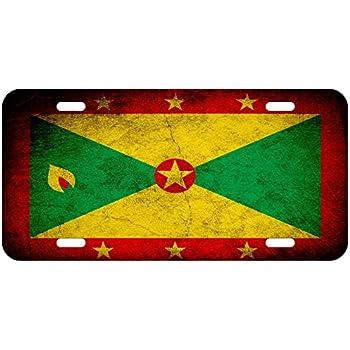 Grenada  Star Aluminum License Plate Frame Holder