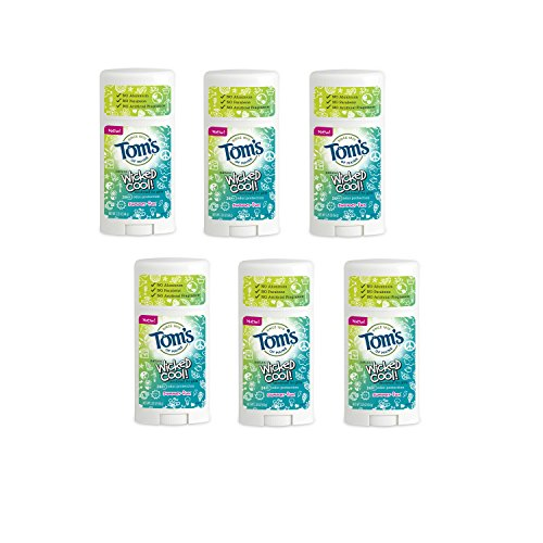 Tom's of Maine Wicked Cool Teen Girls Natural Summer Fun Deodorant, 2.25 Ounce (Pack of 6)