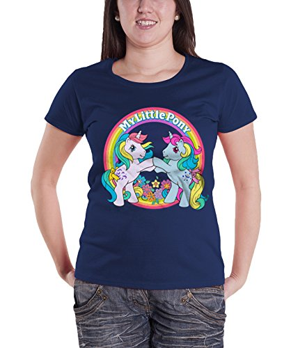 My Little Pony T Shirt Best Friends new Official Womens Junior Fit Navy -