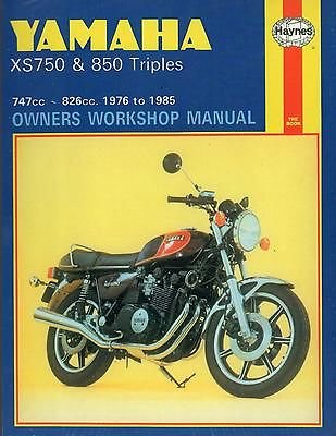 HAYNES 1976-1985 YAMAHA XS750 & 850 TRIPLES OWNERS for sale  Delivered anywhere in USA