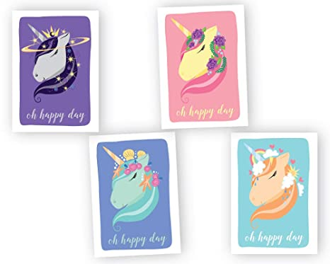 Unicorn Birthday Cards Assortment