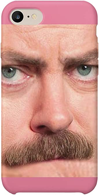 Ron Swanson Angry Face Mustache_MA0769 For Huawei P30 ...