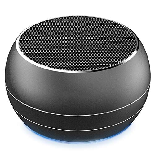 RENJUN Bluetooth Mini Stereo Desktop Computer Mobile Phone Wireless Charging Portable Audio, 87.3 × 87.3 × 48.2mm…