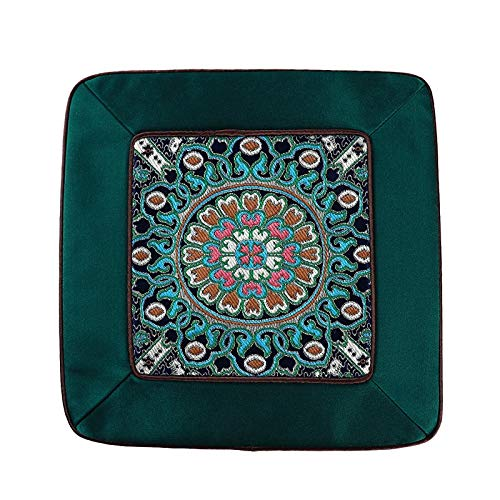 - Dasanito3089 Square Placemats New Chinese Dining Table Mat Patchwork Luxury Vintage Square Insulation Pad Natural Mulberry Silk Placemats Kitchen Accessories