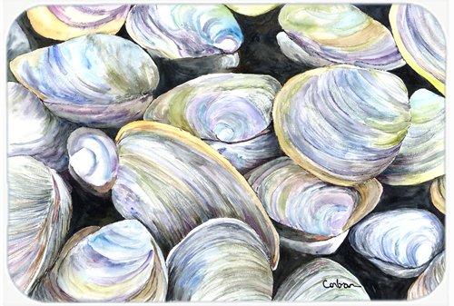 Carolines Treasures Clam Quahog Glass Cutting Board Multicolor Large