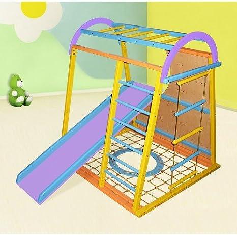 Madera campo de juego infantil, Centro de actividades, escalera sueco Tumbler. Envío gratis (Sun): Amazon.es: Bebé