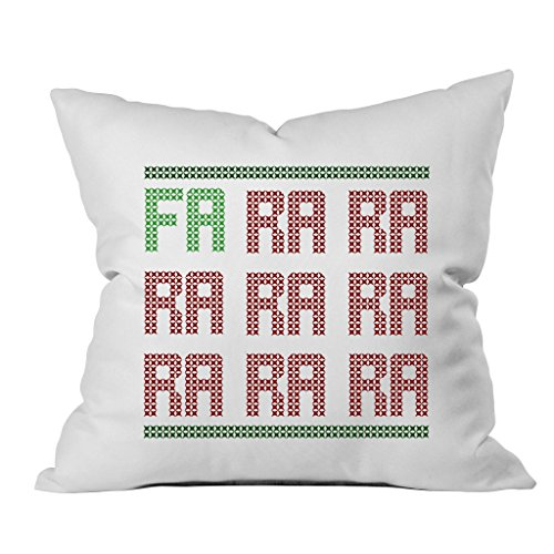 [Oh, Susannah FA RA RA Christmas Throw Pillow Cover (1 18 x 18 Inch, Green, Red)] (Dance Hall Holly Costumes)