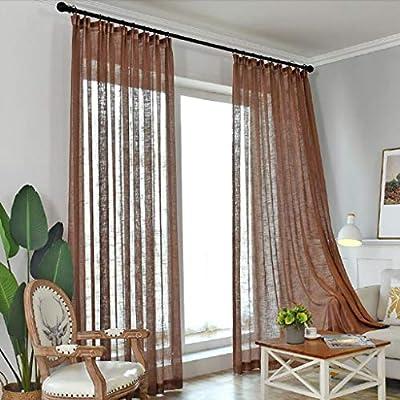 CYY CL Cortina de Princesa de Hilo de algodón Grueso, 2 Paneles de Tela de algodón Cortinas Opacas para Sala de Estar del Dormitorio (Color : D, Tamaño : 350 * 270cm): Amazon.es: Hogar
