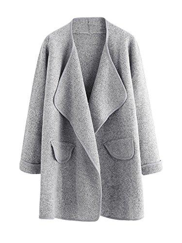 Wool Cardigan Sweater Coat (Chenghe Women's Long Sleeve Cardigan Open Front Loose Knit Sweater Coat)