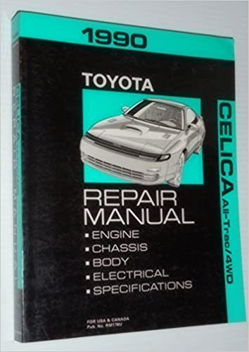 Remarkable 1990 Toyota Celica All Trac 4Wd Repair Manual Toyota Amazon Com Books Wiring Digital Resources Inamasemecshebarightsorg