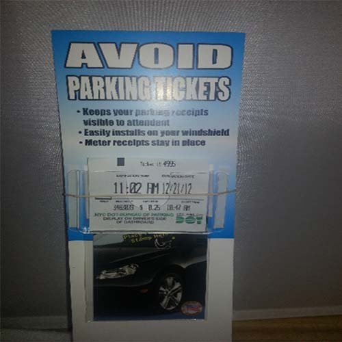 Avoid Parking Tickets! Municipal Safe Display Parking Ticket Holder