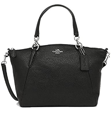7e989b0e0 Coach Small Kelsey Satchel in Pebble Leather F36675 Black with Silver  Hardware