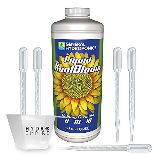General Hydroponics Liquid KoolBloom Quart - Great Roots, More Flowers Superior Plant Supplements Improve Crop Production and The Weight Yields Includes 5 pipettes and 4 oz Measuring Cup by Hydro Empire