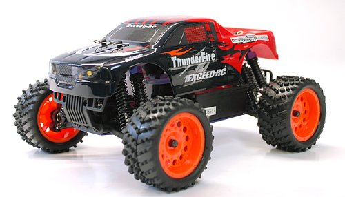 1/16 2.4Ghz Exceed RC ThunderFire Nitro Gas Powered RTR Off Road Truck Sava Red ***STARTER KIT REQUIRED AND SOLD SEPARATELY*** (Rc Mini Nitro)