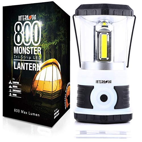 Internova 800 Monster LED Camping Lantern – Massive Brightness with Tri-Strip Lighting LED Lantern – Emergency – Backpacking – Hiking – Auto – Home – College