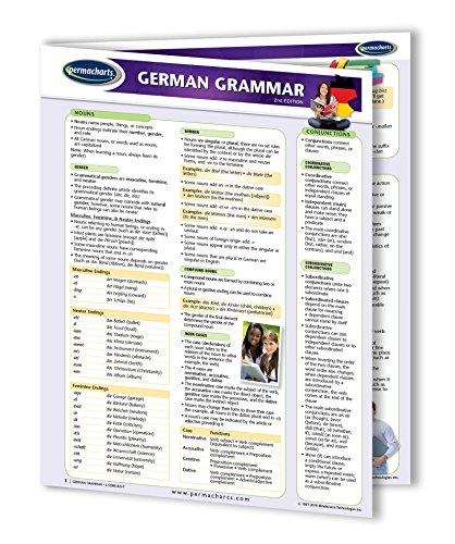 German Grammar Guide - Language Quick Reference Guide by Permacharts