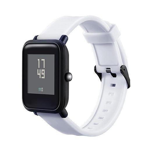 MYQyiyi Deportiva Correa de Silicona de Reloj para Xiaomi Huami Amazfit Bip Youth Watch