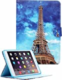 iPad Mini Retina/iPad Mini 3 Case UHIPPO Eiffel Tower Anti-scratch PU Leather Case Cover with Card Pockets Stand Feature for iPad Mini Retina iPad Mini 3