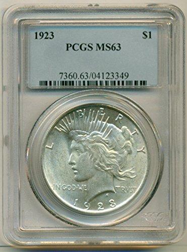 1923 Peace Dollar MS63 PCGS