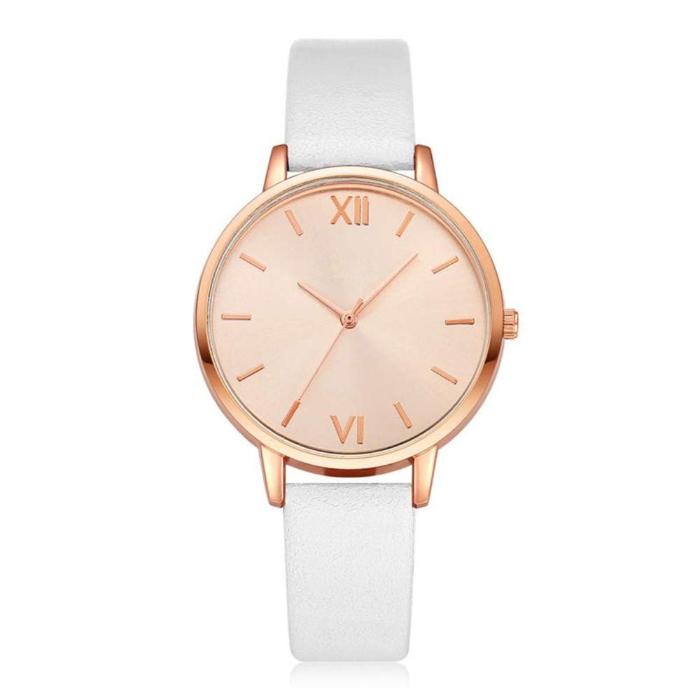 Eduavar Watches for Women Clearance Sale Men Analog Quartz Fashion Wrist Watch Casual Business Classic Bracelet Watches Gift Round Dial Case Leather Stainless Steel Mesh Band Watches