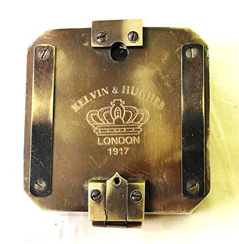 Streetクラフトケルビン&ヒューズ自然正弦Brunton 1917コンパス真鍮?マイニングCompasses、真鍮ポケットコンパスアウトドアナビゲーションツール。