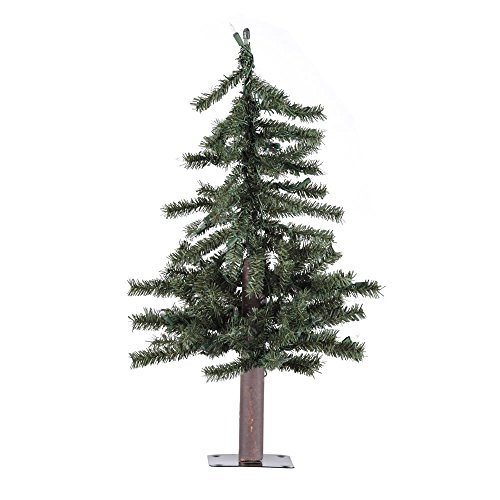2 foot Unlit Alpine Tabletop Trees for Christmas [A805120] (Christmas Village Tabletop Tree Artificial)