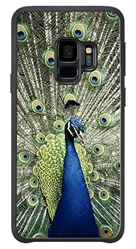 VUTTOO Case for Samsung Galaxy S9(NOT S9 PLUS) - Blue Peacock Display Case - Shock Absorption Protection Phone Cover Case