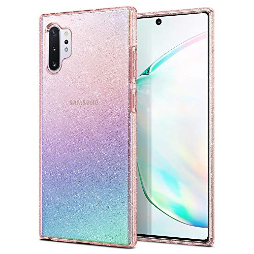 Spigen Liquid Crystal Glitter Designed for Samsung Galaxy Note 10 Plus Case/Galaxy Note 10 Plus 5G Case (2019) - Rose Quartz