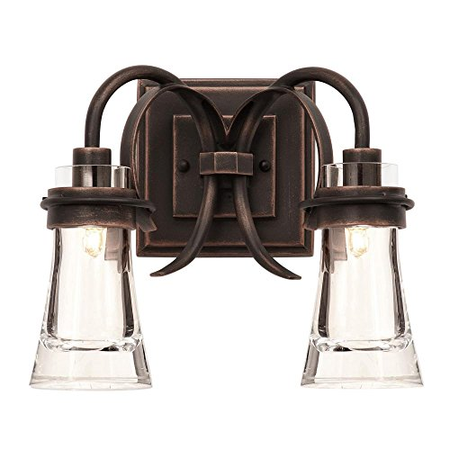 Two Light Antique Copper Vanity Model-2912AC