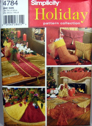 Simplicity Sewing Pattern 4784 Holiday Decor, One Size