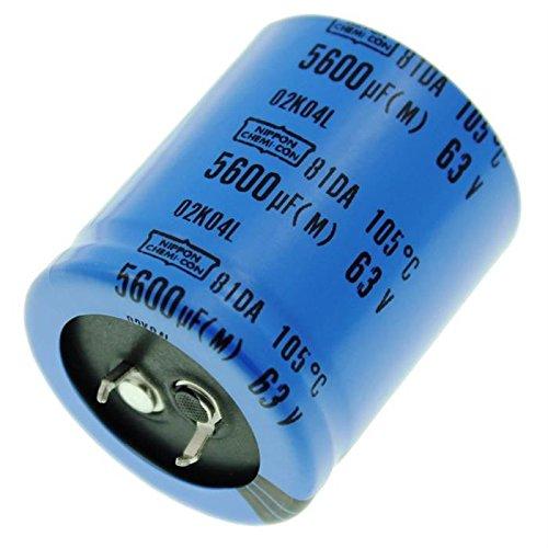 2x Snap-In Elko Kondensator 5600/µF 63V 105/°C ; 81DA063560035X40 ; 5600uF