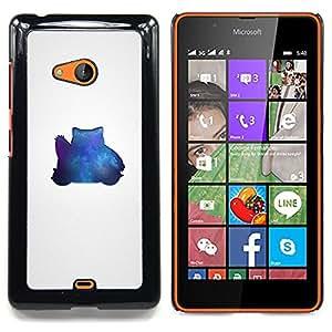 """Qstar Arte & diseño plástico duro Fundas Cover Cubre Hard Case Cover para Nokia Lumia 540 (Azul Pekemon"""")"""