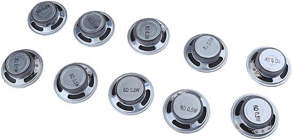 D DOLITY 10 Unids 50mm Altavoz Redondo Rango Completo Impermeable Repuestos para Reproductores de Medios