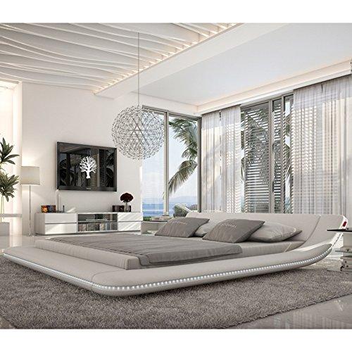 Innocent Designer Bett 180x200cm mit LED-Beleuchtung Custo weiß