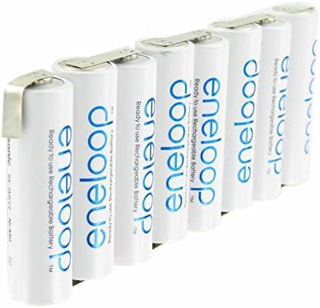 Eneloop 9.6 V Batería Pack F1 X 8, 8/BK-3MCCE con soldadura: Amazon.es: Electrónica