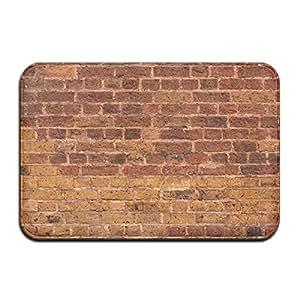 diyabcd impresionante rojo pared de ladrillos Felpudo antideslizante para casa jardín puerta alfombra Felpudo piso almohadillas