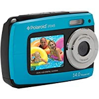 Polaroid 14 MP Waterproof Digital Camera w/ 2.7+1.8 TFT Dual Display, Colors May Vary