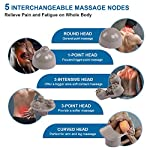 RENPHO Rechargeable Hand Held Deep Tissue Massager for Muscles, Back, Foot, Neck, Shoulder, Leg, Calf Pain Relief - Cordless Electric Percussion Full Body Massage with Portable Design - White