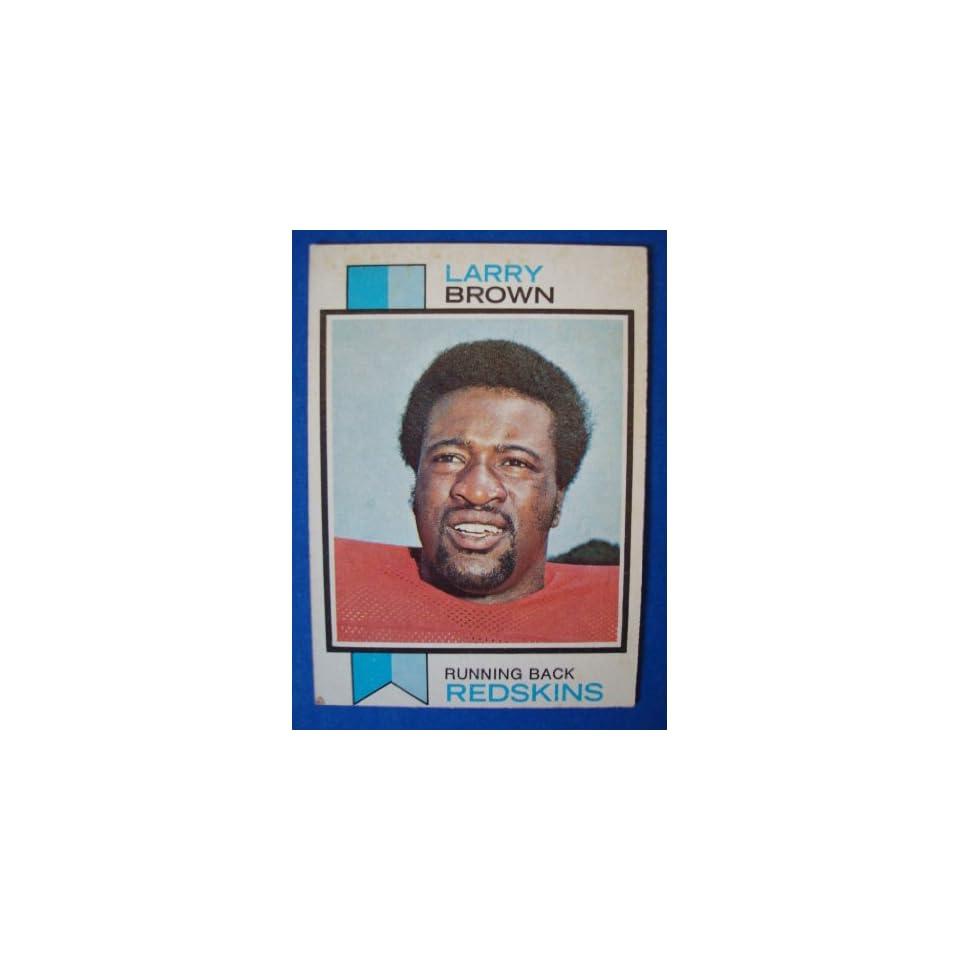 1973 Topps Football Trading Card Washington Redskins Larry Brown