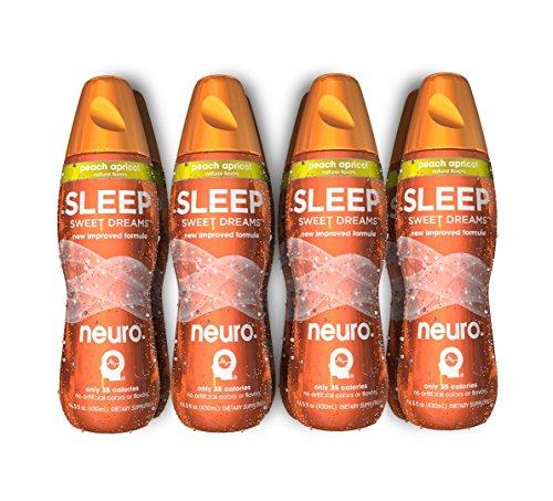 Neuro Bliss Nutritional Supplement Drink White Raspberry: Neuro Sleep Drink, Peach Apricot 14.5- Fl. Oz Bottles