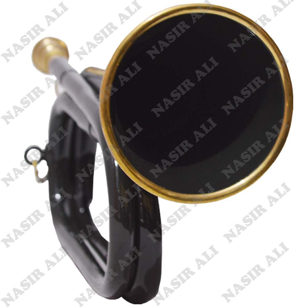 NASIR ALI BEAUTIFUL PURE BLACK Army, Military Bugle With Free Hard Case + M/P