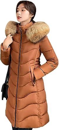 Nemopter Manteau Chaud Doudoune Femme Veste Capuche Fourrure Faux Parka Longue Hiver Jacket Blouson Longue Doudoune