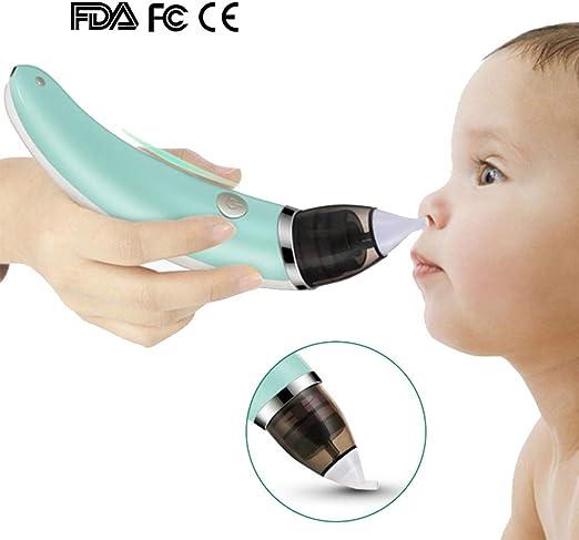 HBIAO Aspirador Nasal Bebe Electrico, Higiene Segura Carga USB ...