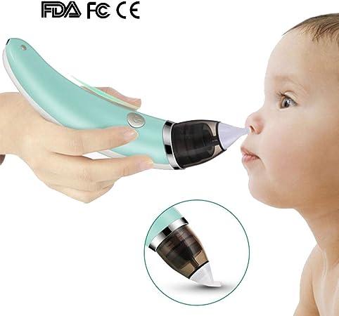 HBIAO Aspirador Nasal Bebe Electrico, Higiene Segura Carga USB Lechón de secreciones nasales con 5 Niveles de succión para recién Nacidos y niños pequeños: Amazon.es: Hogar