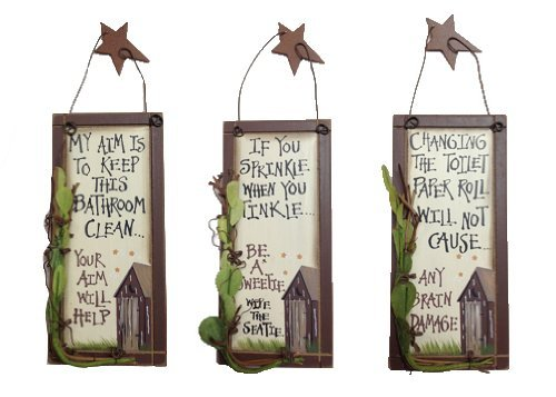 Outhouse Designs (Outhouse Etiquette Bathroom Signs (Set of 3))