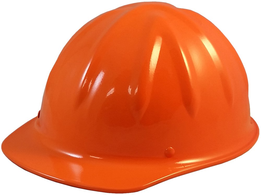 SkullBucket Aluminum Cap Style Hard Hats with Ratchet Suspensions - Hi Viz Orange