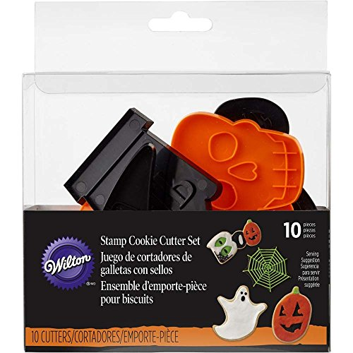 Wilton Halloween Shapes Cookie Cutter Set, 10-Piece (Halloween Cutter Cookie)
